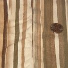 "Natural Olive Brown Tan Lightweight Home Decor Fabric  1 3/4 yds x 36"" wide"