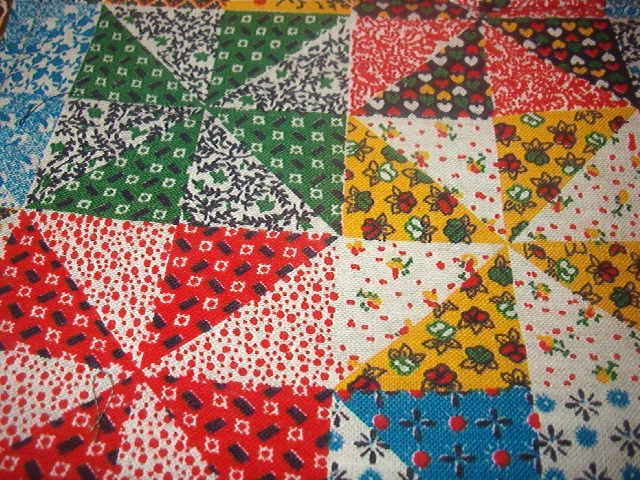 "Multi-Pattern Multi-Color Quilt Look Cotton Fabric  3/4yd x 33""W"