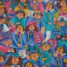 "Scarecrow Doctor Nurse Patient  Cotton Fabric  3 pieces 23""L x 11""W and 11 1/2""L x 27""W"