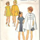 Simplicity 5536 (1973) Pattern Girls Dress and Cape  Size 8  Cut