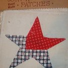 Country Clutter Hand Made Patches Red White Blue Star 5 1/2&quot; x 5 1/2&quot;