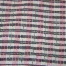 "Pink Gray White Raised Plaid Cotton/Rayon Blend Fabric 4 1/2 yds x 45"" wide"