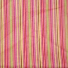 "Shades of Pink with Yellow, Green and Orange Stripes  Cotton Fabric  2 1/8 yd x 45"" wide"