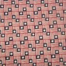 Small Red White Blue Flags with One Star  Cotton Fabric  2 yds x 46""