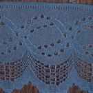 "2 1/2"" x 3 3/4 yds  Blue Scalloped and Detailed Edging"