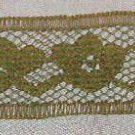 "Dainty Olive Lace Tulip & Leaves Pattern  1/2"" x 14 2/3 yds"
