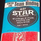 Star Red 100% Nylon Stretch Lace Seam Binding  3yds