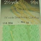 Wrights Nile Green Flexi-Lace Hem Facing  1 3/4 w x 2 1/2 yds