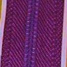"24"" J&P Coats Purple Dress or Neck Metal Zipper"
