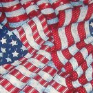 "American Flags in 3 Design Fabric  33""w x 1 3/4 yd (64"")"