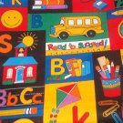 "Read to Succeed School Print Fabric 46""w x 1yd"