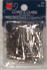 Coats &amp; Clark 1 1/16&quot; Nickle Plated Steel Silk Pins