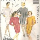 McCalls 5533 (1991) Pattern Wedge Dress Front Button or Back Zip Pockets Size 6-10  Uncut