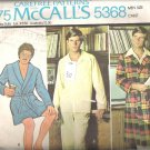 McCalls 5368 (1976) Pattern Mens Robe Pajamas Partially Cut  Size Medium