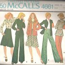 McCalls 4661 (1975) Vintage Pattern Unlined Jacket or Blouse Bias Skirt Pants Size 14  Uncut