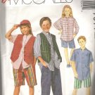 McCalls 7014 (1994) Pattern Boys Girls Shirt Lined Vest Pants and Shorts  Size 7, 8, 10  Partial Cut