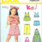 New Look Kids! 6260 Pattern Girls Shorts Top Capri Pants Sundress Kerchief  Size 3-8 Partial Cut