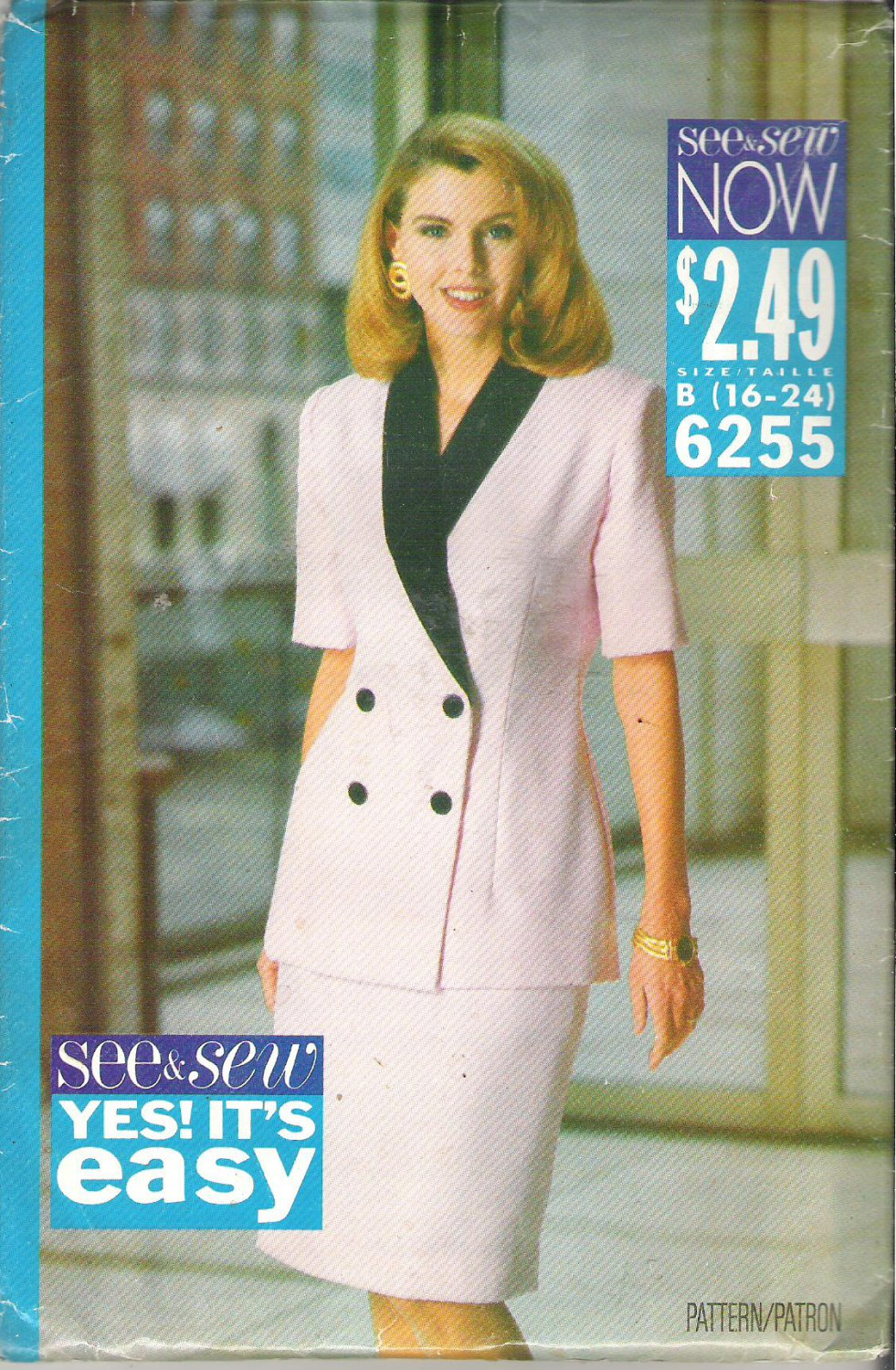Butterick 6255 (1992) Vintage Plus Size Pattern Jacket/Top Skirt  16-24  Uncut