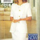 Butterick 3414 (1994) Vintage Plus Size Pattern Jacket Dress 18-22  Cut to 20