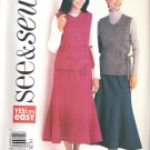 Butterick 3621 (2002) Easy Plus Size Pattern Top Skirt  18, 20, 22  Uncut