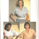 Simplicity 6707 (1984) Vintage Pattern Easy to Sew Shirt  Size 6-10  Partial Cut to 10