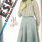 Simplicity 5717 (1982) Vintage Pattern Blouse Front Wrap Skirt  Size 12-16  Uncut