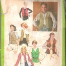 Simplicity 8980 (1979) Vintage Pattern Vests  Size 10  Partial Cut