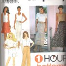 Simplicity 8863 (1994) Pattern  1-Hour Circle Skirt, Slim Skirt, Pants, Shorts  Size L-XL  Uncut