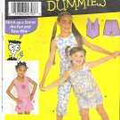 Simplicity 9607 (2001) Sewing Patterns for Dummies Girls Top Shorts Pants  Size 3-6 Partial Cut to 6