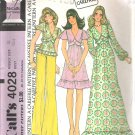 McCalls 4028 (1974) Vintage Pattern Pull-over Dress & Top  Size 10  Cut
