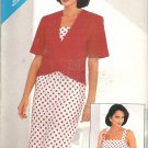 Butterick 5567 (1987) Pattern Jacket and Dress with Shoulder Straps  Size 8-12  Uncut