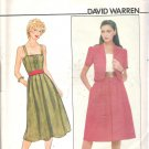 Butterick 4374 Pattern Short Sleeve Jacket Button Front Bodice  Shoulder Straps  Size 12  Cut