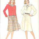 Butterick 4167 Pattern Long Sleeve Jacket Dress with Flounce Collar Size 12-16 Part Cut to 12
