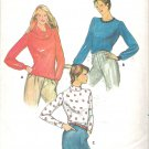 Butterick 3391 Pattern Turtle Neck Cowl Neck Top for Stretch Knits Size 8-10 Part Cut