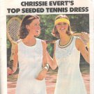 Butterick 4341 Vintage Pattern Chrissie Everet's Tennis Dress Briefs Size 10 Uncut