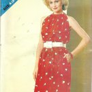 Butterick 5143 Pattern Dress Halter Type Bodice Elastic Waist Size 8-16 Uncut