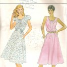 Butterick 4388 Pattern Misses Petite Button Front Drawstring Neck Dress Size 10 Uncut