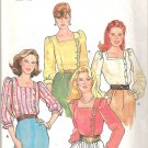 Butterick 4219 Pattern Blouse Top Square Neck Asymmetrical Button Closing Size 12 Cut