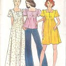 Butterick 3673 Vintage Pattern Girls Junior Petite Long Short Dress Top Tucks Pleats  Size 11 Uncut
