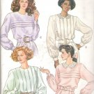 Butterick 4316 (1989) Vintage Pattern Blouse Top Front Tuck Variations Size 8-12 Part Cut to 12