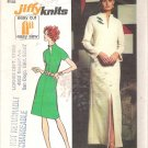 Simplicity 5320 (1972) Vintage Pattern Misses/Petite Long Short  Dress Raised Neck  Size 10 Cut