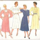 Butterick 3412 (1985) Classic Pattern Front Tuck Variations Dress Cummerbund Size 12 Part Cut