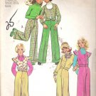 Simplicity 5826 (1973) Vintage Pattern Girls Unlined Vest Top Jacket Cuffed Pants Size14 Cut