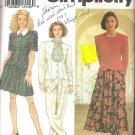 Simplicity 8045 (1992) Pattern Misses/Petite Skirt Pants Top Tie Size 12-18 Part Cut to 18