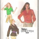 Simplicity 9264 (1979) Vintage Pattern Pullover Knit Top Shawl Collar Size 8-12 Uncut