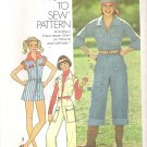 "Simplicity 7562 (1976) Vintage ""How to Sew"" Pattern Jumpsuit Size 12 Uncut"