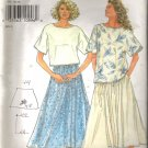 Simplicity 7141 (1996) So Easy Pattern ONLY Full Skirt Elastic Waist Size 8-20 Cut to 18