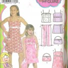 Simplicity 5083 (2004) Pattern Childs Girls Dress Top Crop Pants Skort Purse 7-14 Uncut