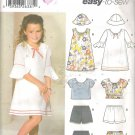 Simplicity 5689 (2003) Childs Girls Dress Top Shorts Skirt Hat 2-6X Part Cut to 6