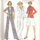 Simplicity 6876 (1975) Vintage Pattern Unlined Jacket Wide Leg Pants Skirt Size 10 Uncut